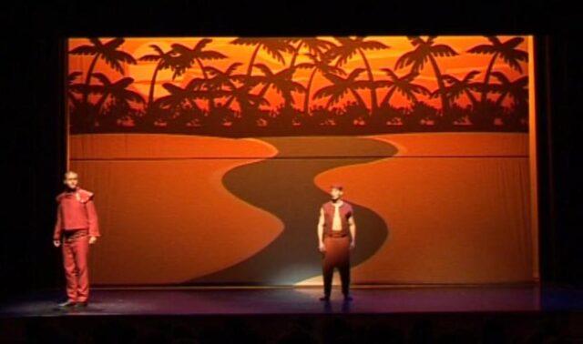 Theaterdoek rivier Nijl - Theaterdoek met Nijl rivier in scene Aida