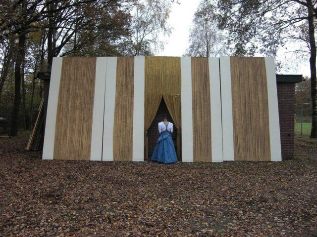 Achterwand boudoir met doorgang - Achterwand boudoir Aida