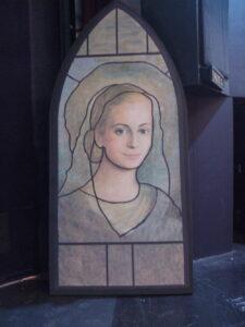 Madonna glas-in-lood raam - Madonna glas-in-lood raam