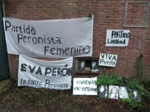 Spandoeken en protestborden Evita - Spandoeken en protestborden Evita