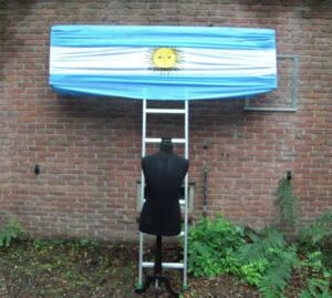Argentijnse vlag gedrapeerd - Argentijnse vlag gedrapeerd