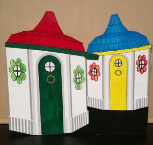 Vrolijke huisjes Land van Oz zetstuk - Zetstuk huisjes Land van Oz