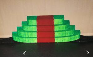 Groene bordestrap zetstuk - Zetstuk groene bordestrap