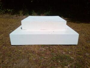 Vierkant wit podiumpje - Vierkant wit podiumpje