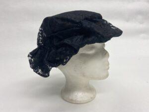 Zwartbruin kanten hoedje - Zwart hoedje