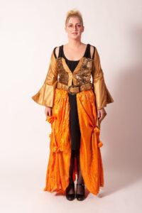 Goud/oranje jurk -