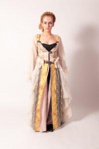 Ecru jurk met kant -