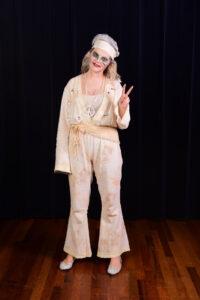 Wit hippie broekpak (voor een spook) -