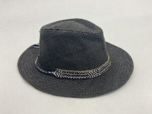 Grijze hoed met gouden accent - Grijze hoed