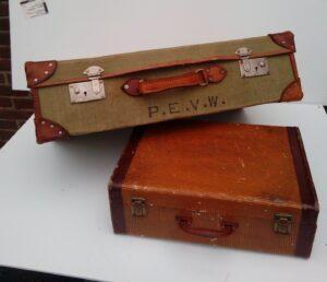 Ouderwetse koffers - Diverse ouderwetse koffers