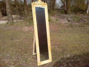 Staande spiegel met gouden lijst - Staande spiegel met gouden lijst