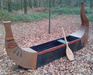 Egyptische roeiboot - Egyptisch bootje met peddel