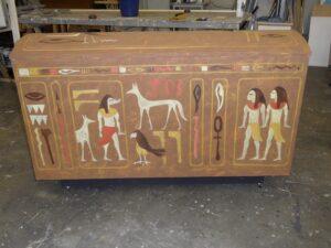 Sarcofaag - Sarcofaag met Egyptische schilderingen